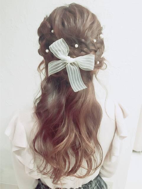 入学式 ママ 髪型 ロング