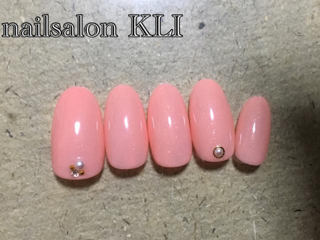ネイル シンプル 春 ピンク