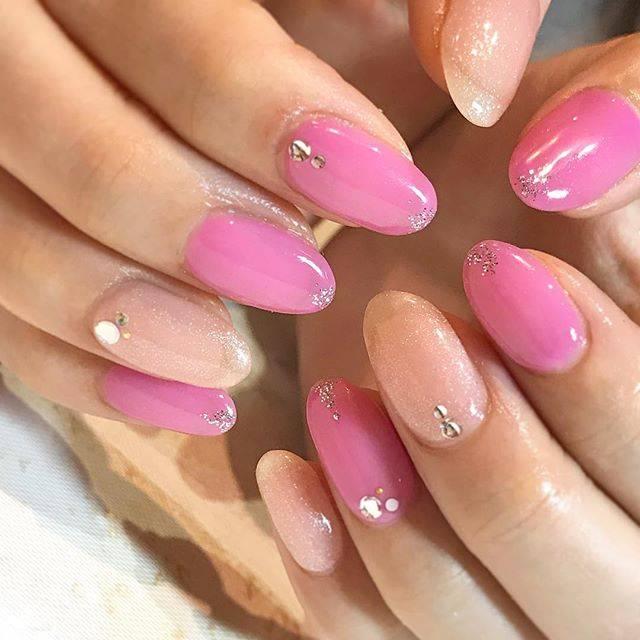 ピンク ラメ ネイル セルフ