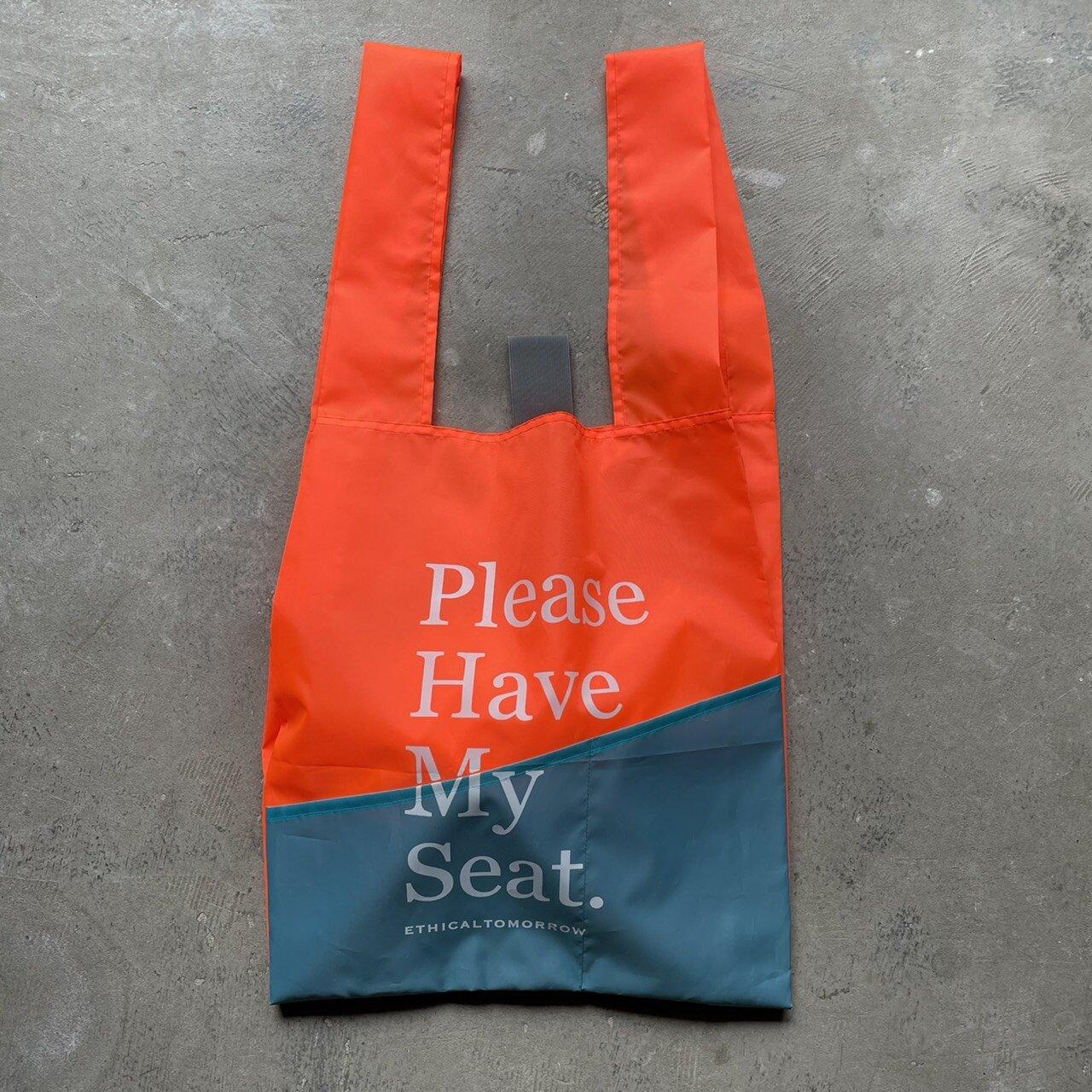 再生PETのBAGでHave My Seatと囁くBAG