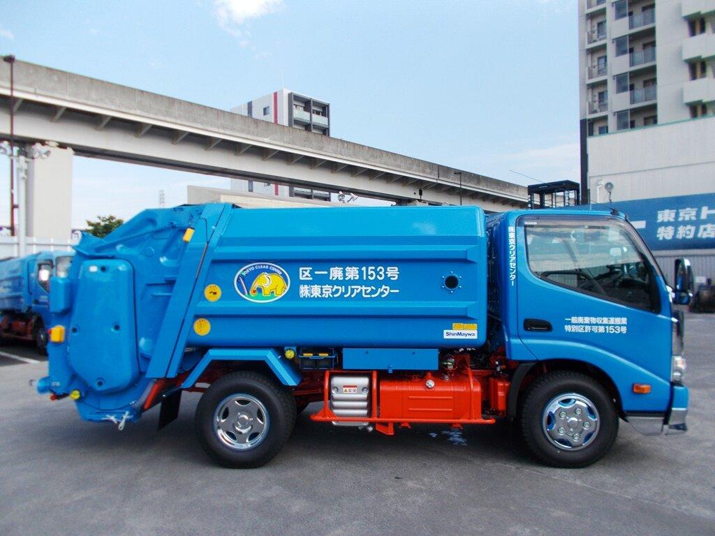 「サステオディーゼル燃料」を使用した食品廃棄物収集専用車