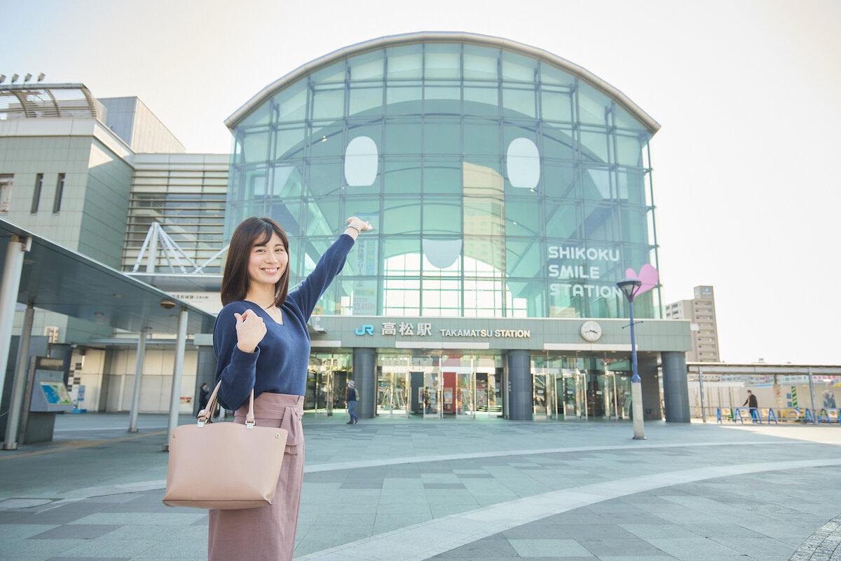 JR高松駅の正面入口
