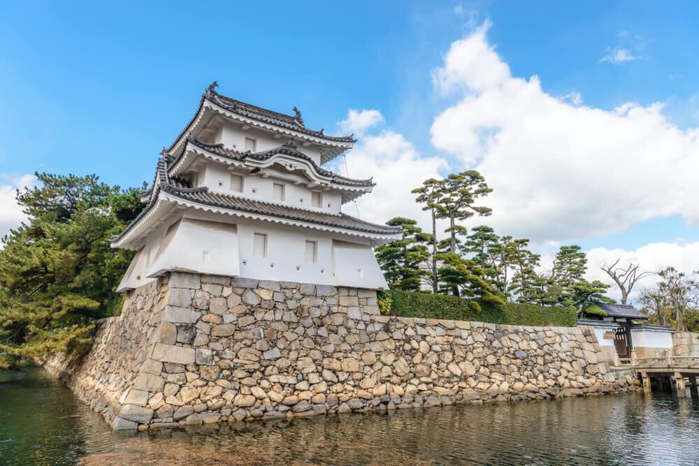 高松城と青空