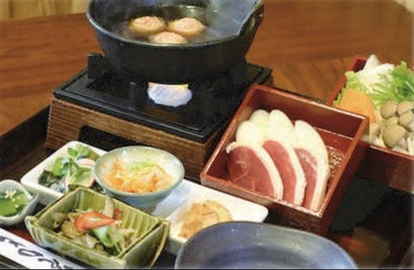 銀波亭の鴨料理