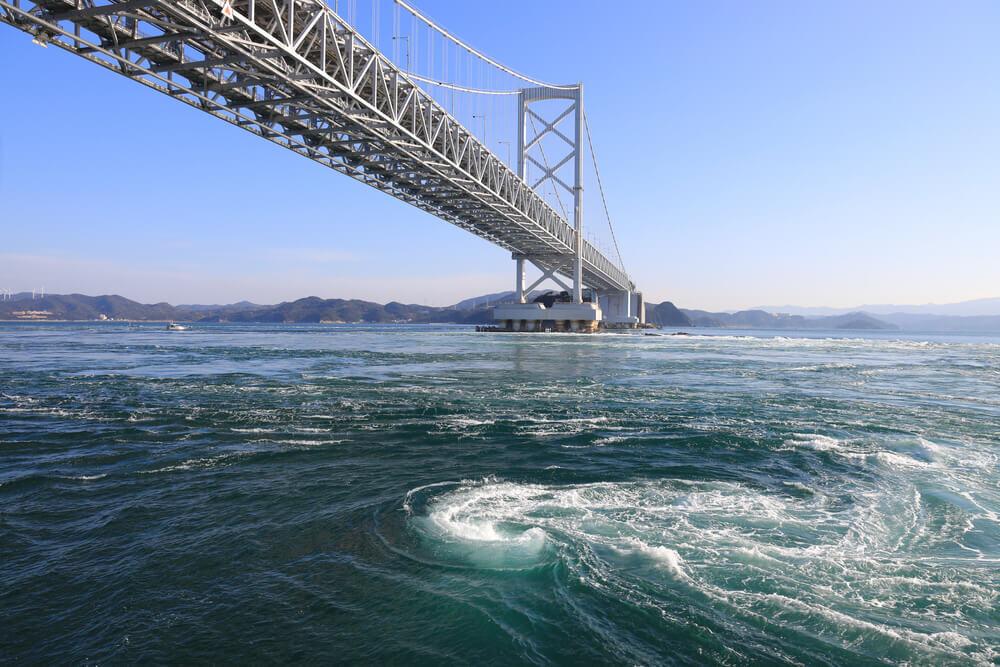 大鳴門橋と鳴門の渦潮