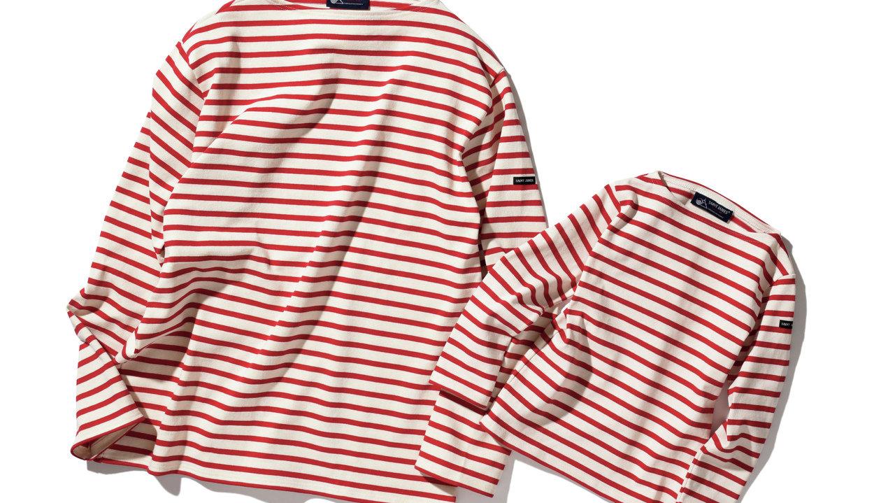 [ファッション]セント ジェームスの赤ボーダーを親子で着てみたい♡
