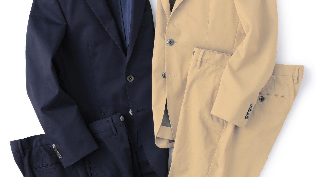 [ファッション]パパの週末きれいめカジュアルに使える上質コットンスーツ、ポロ、Tシャツ