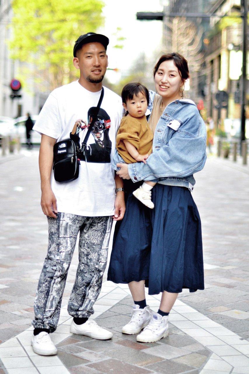 [ファッション]親子スナップ:ストリートなTシャツスタイル