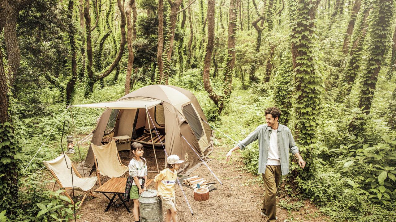 [アウトドア]テントの中にリビングとベッドルーム両方作れます♡