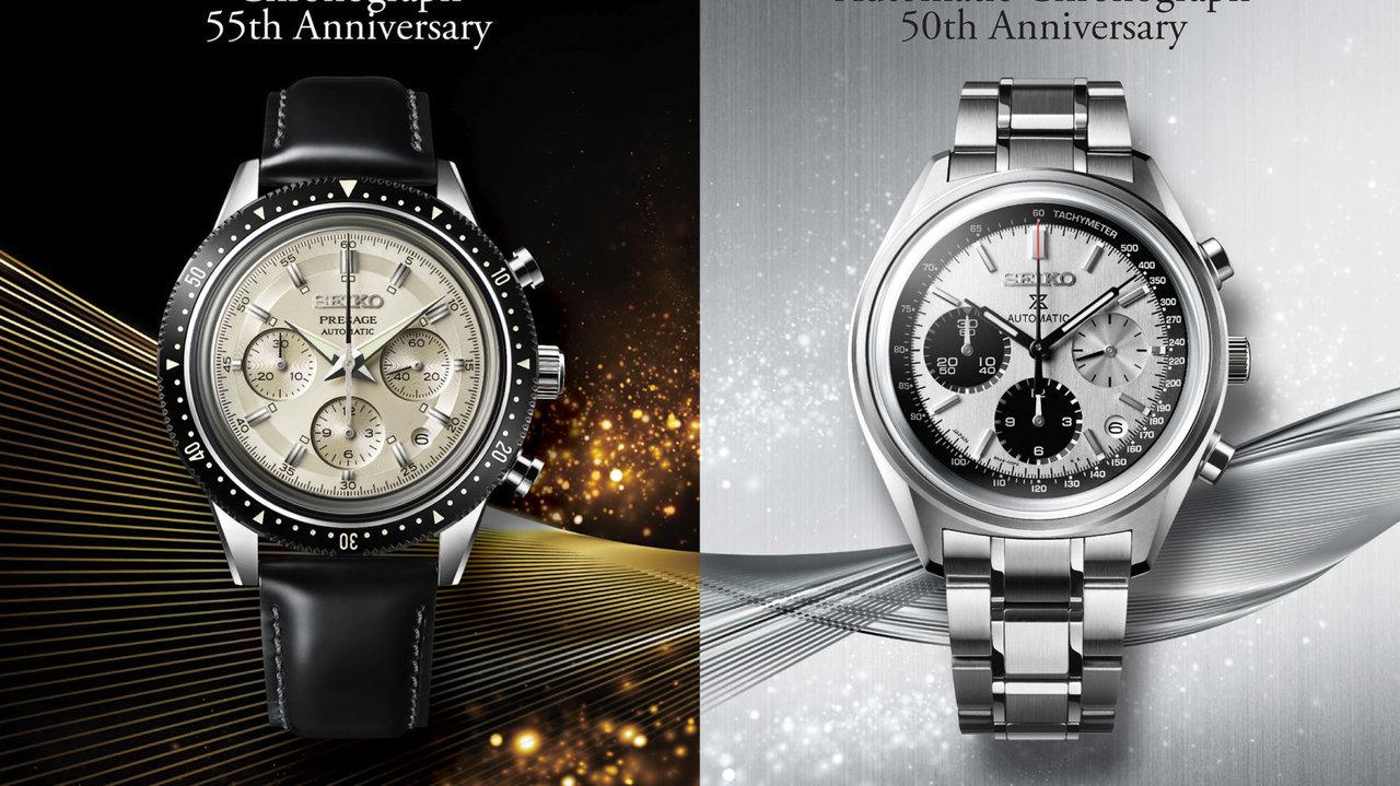 [時計]2つモデルのアニバーサリーを祝しセイコークロノグラフ ヒストリカルコレクションを発売