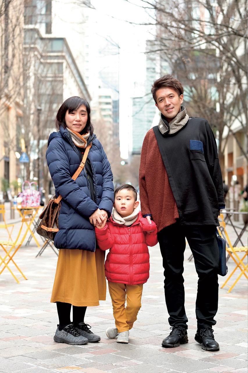 [SNAP]東京・丸の内の親子スナップ「色は抑え目だけど地味過ぎない色合わせが◎」