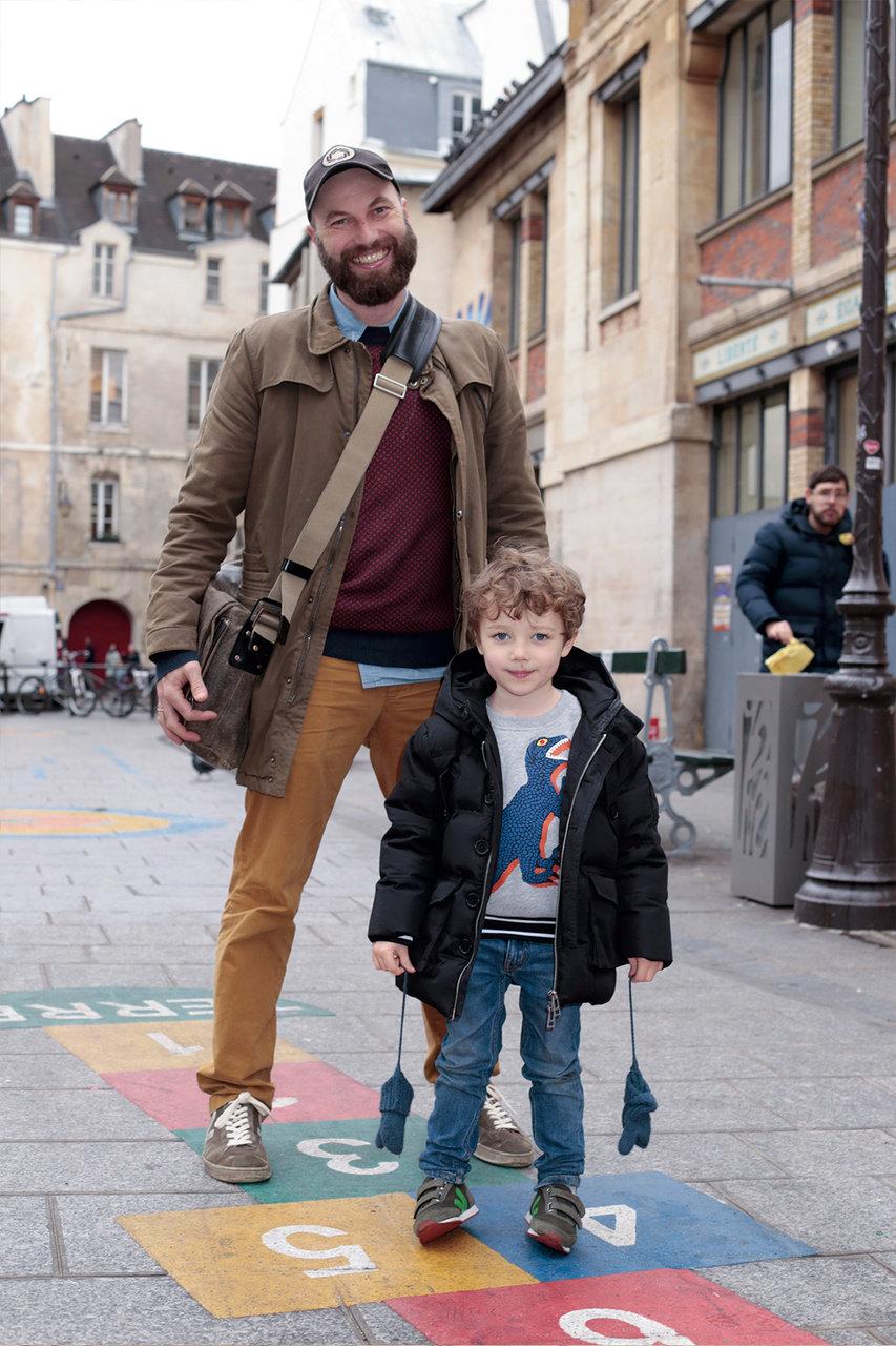 [SNAP]パリの親子スナップ「パリのパパはシックで子供大好きな人ばかり」