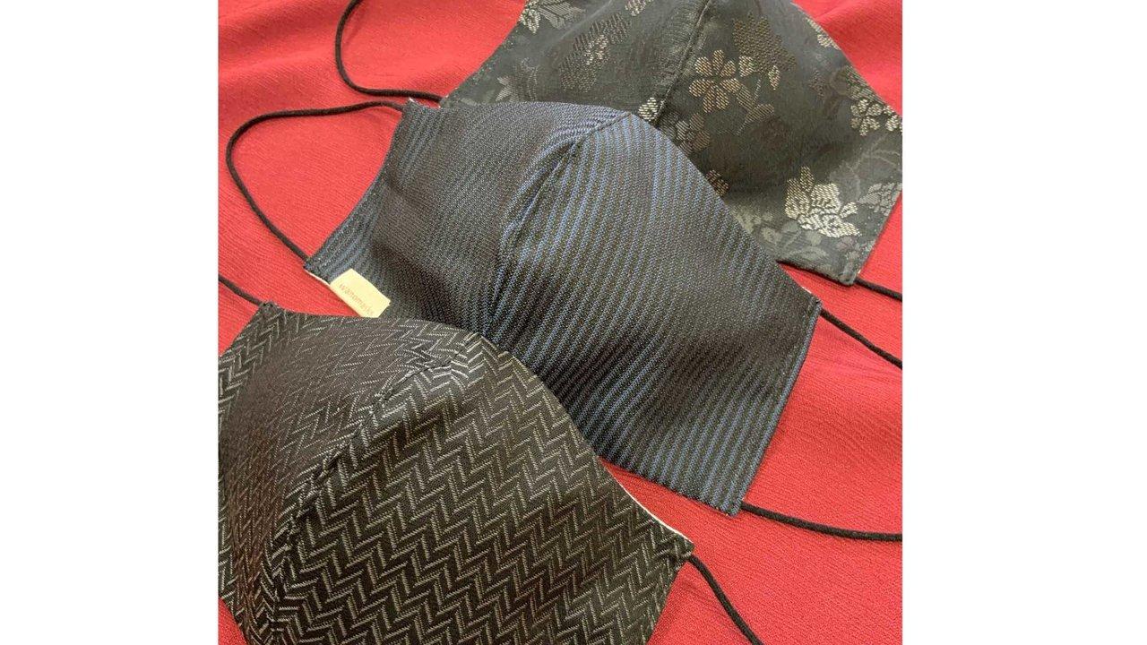 夏も冬も快適な着物から着想!快適!京都の西陣織マスクからシックな冬バージョン