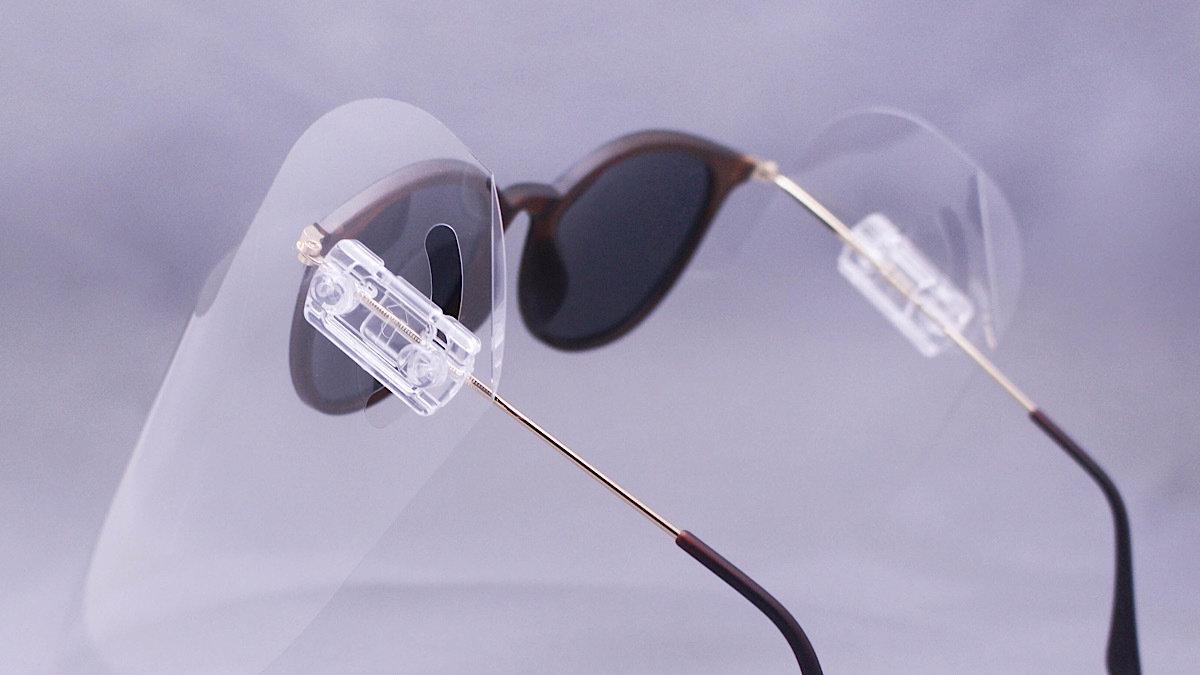 マスクに代わるウイルス対策!快適な超軽量メガネ装着型シールド