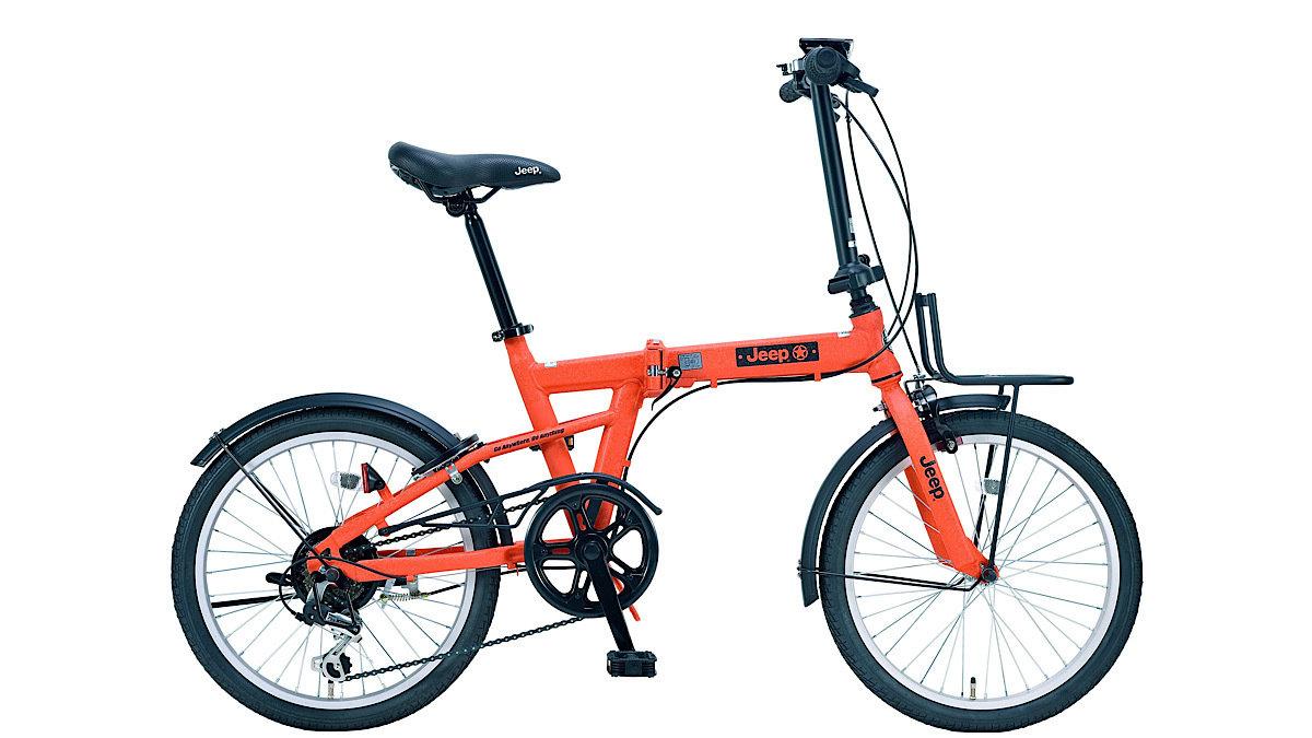 Jeepに乗って通勤!?乗りやすいコンパクトな折りたたみ自転車