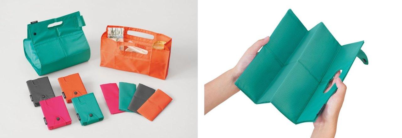 財布にしまえる薄型エコバッグが、キングジムから新登場。薄いのにしっかり収納できる!