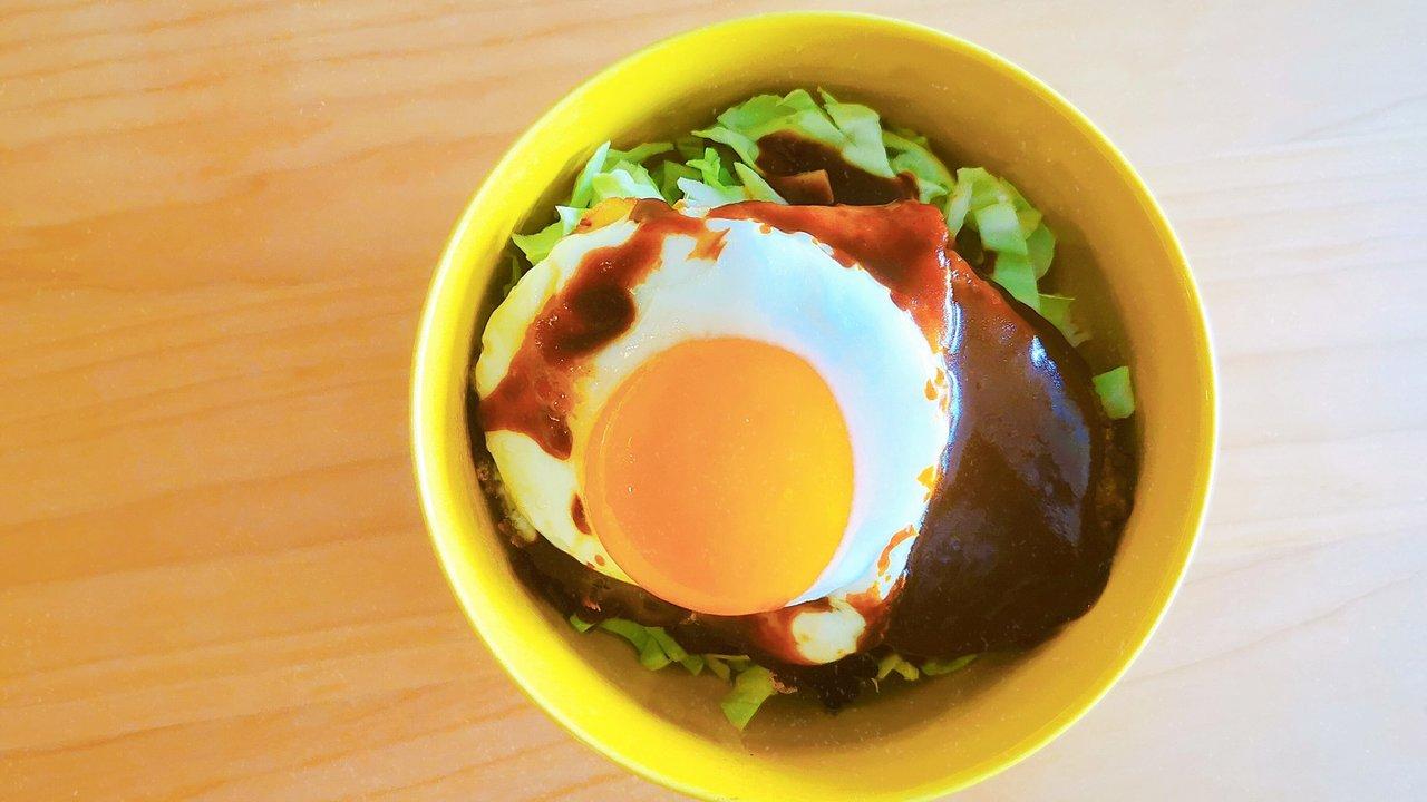 【無印良品】大豆ミートハンバーグと半端材料でロコモコ丼作ってみた