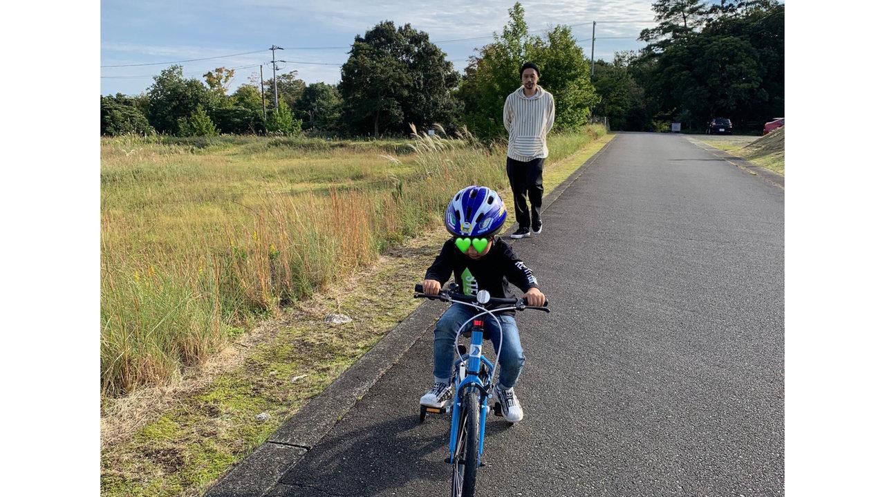 内田朝陽の息子・自分そして家族「息子の自転車デビュー、そして朝陽飯をより強化中です!」