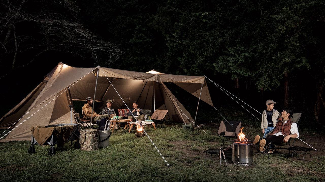 ogawaのおすすめアイテム:家族での寝室付きテントにも、10人規模のタープにもなるシェルター