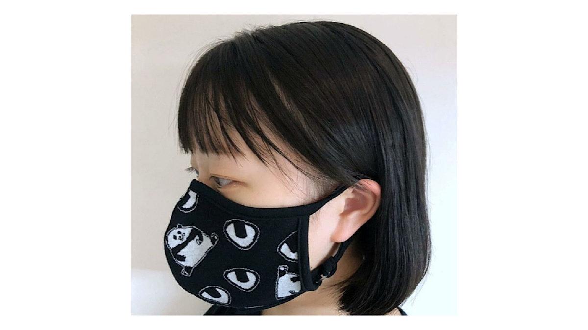 抗菌・抗ウイルス生地を使用した、かわいいのに実用性のあるマスク