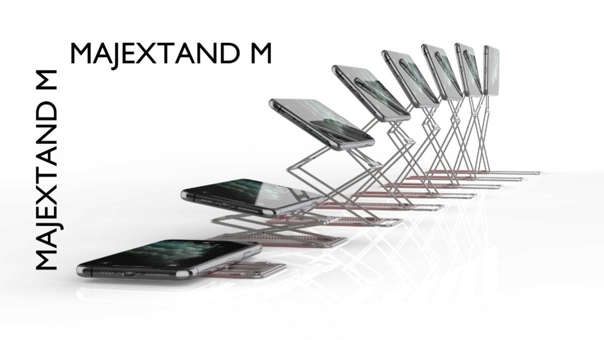 薄さわずか2.3mm!置く方向にとらわれない次世代のデバイススタンド「Majextand M」