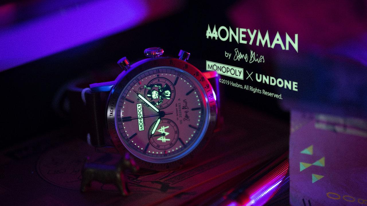 モノポリーマスコットがフェイスに!ユニークなコラボレーションウォッチ「MONEYMAN」
