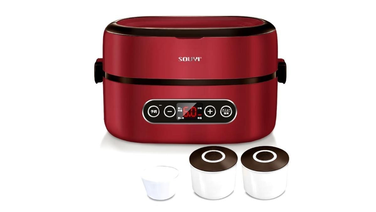 ご飯とおかずを蒸気で同時調理!「SOUYI マルチ炊飯器&ツインスチーマー」がおすすめ