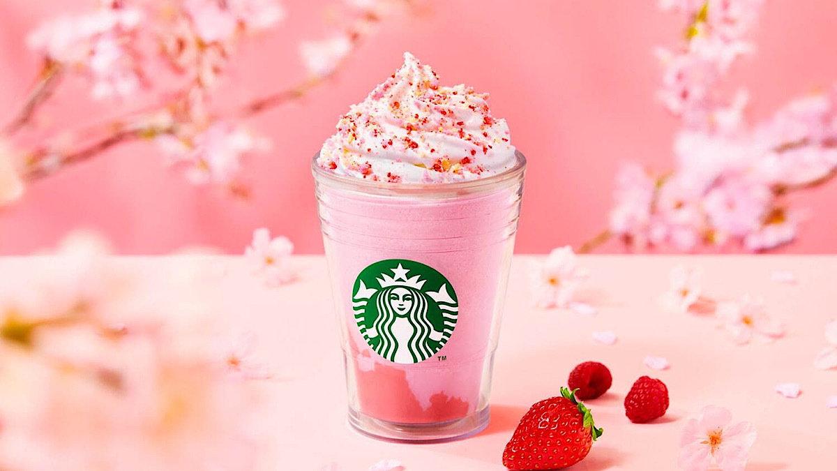スタバの新作フラペチーノは、さくら×イチゴ×ベリー♡お花見のお供にぴったりのフレーバー