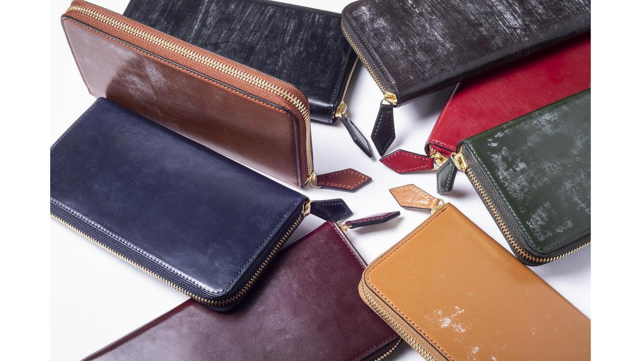 革本来の美しさ!ブライドルレザーのラウンドファスナー長財布に新色が追加