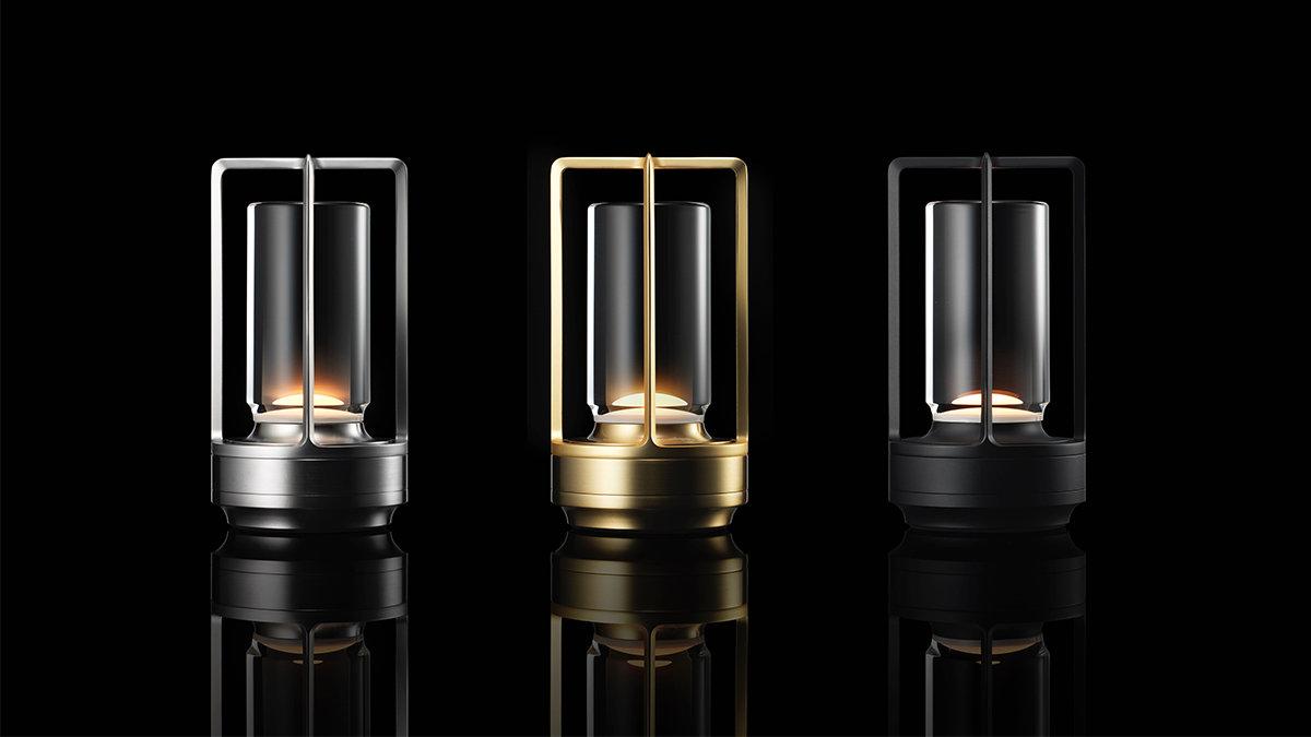 優しい灯りと金属フレームが美しい、コードレスLED照明「TURN+」