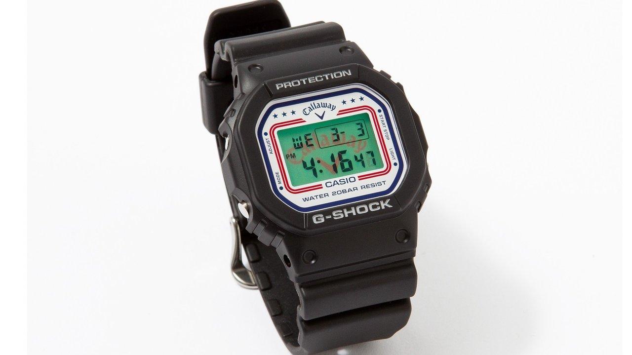 ゴルフアパレル「キャロウェイ」が時計でコラボ!ロゴが浮かび上がるG-SHOCK