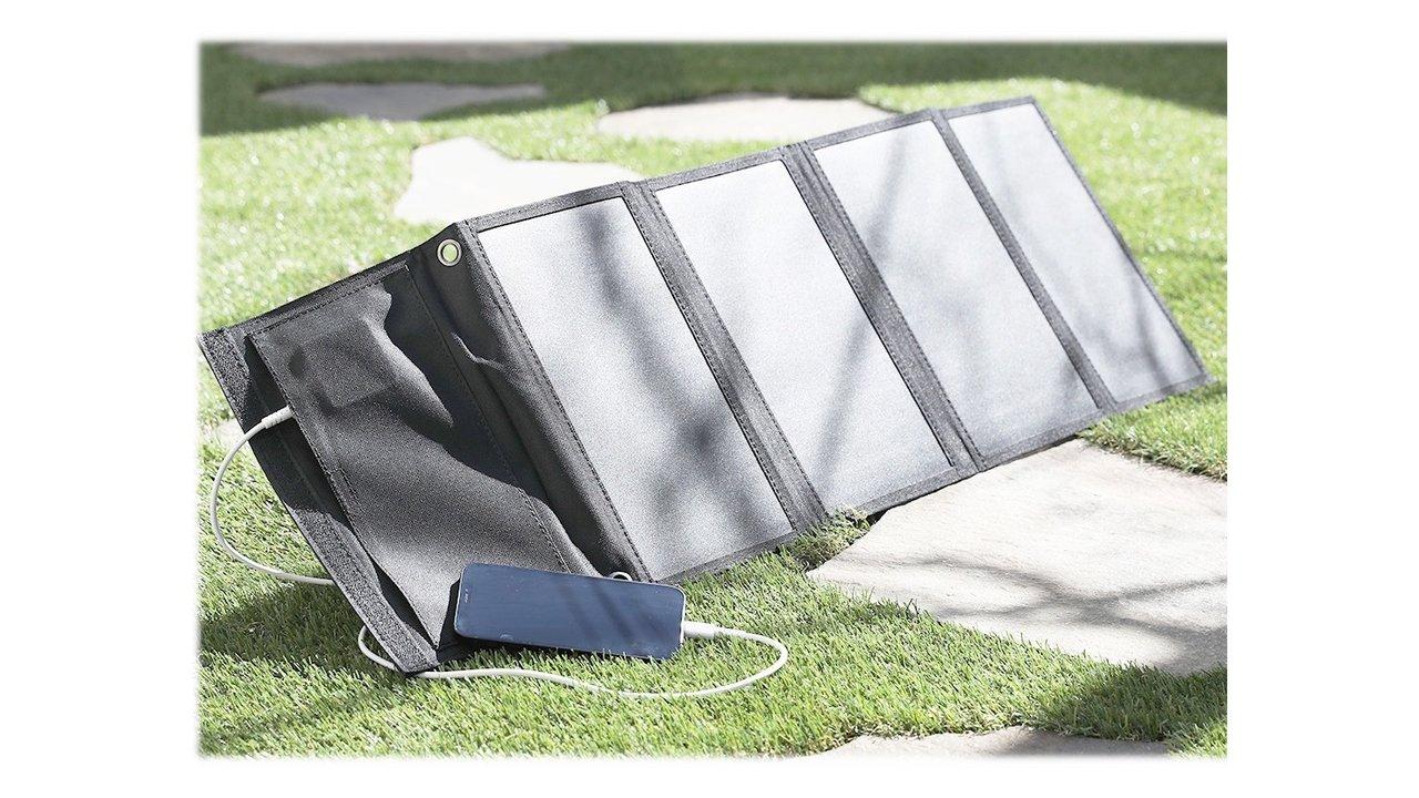 パワフル!スマホやタブレットを太陽光で充電できるソーラーパネル充電器!USBで2台同時充電対応