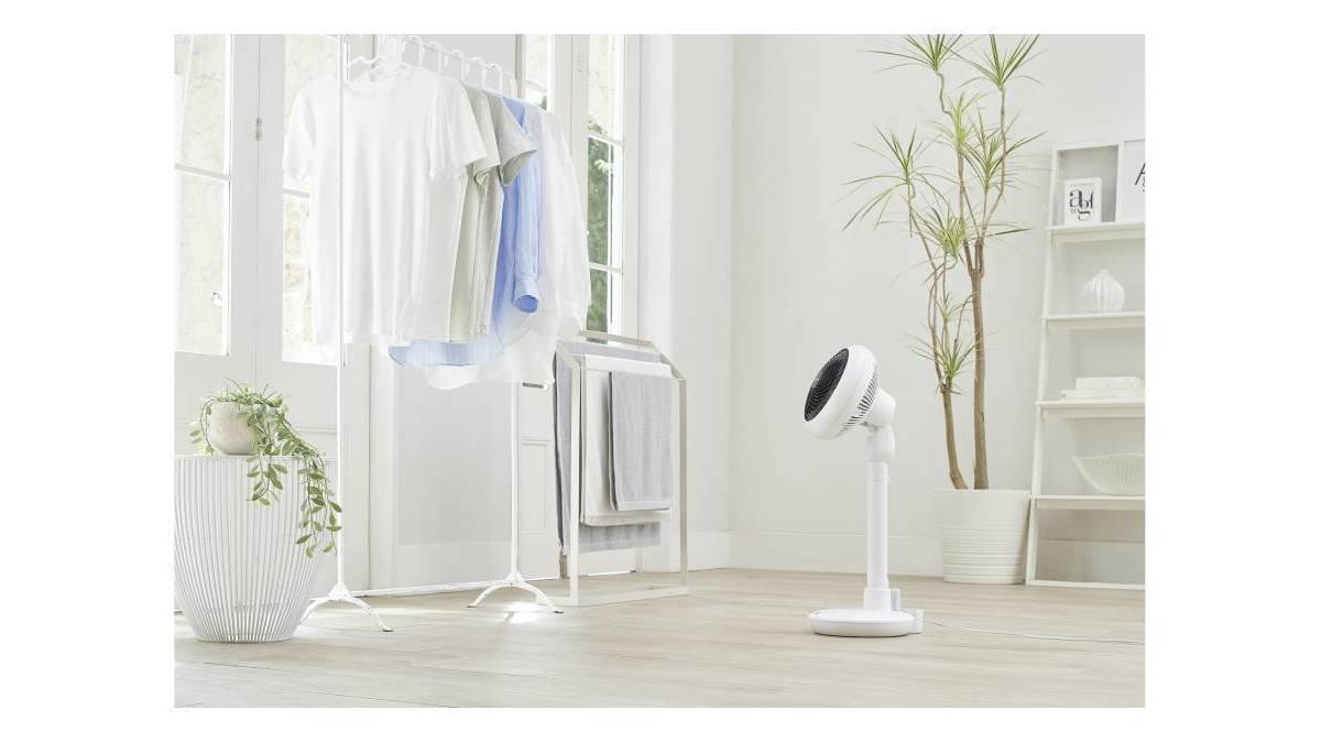 サーキュレーター的な扇風機?2つの機能を合わせて、コンパクトになった注目の家電