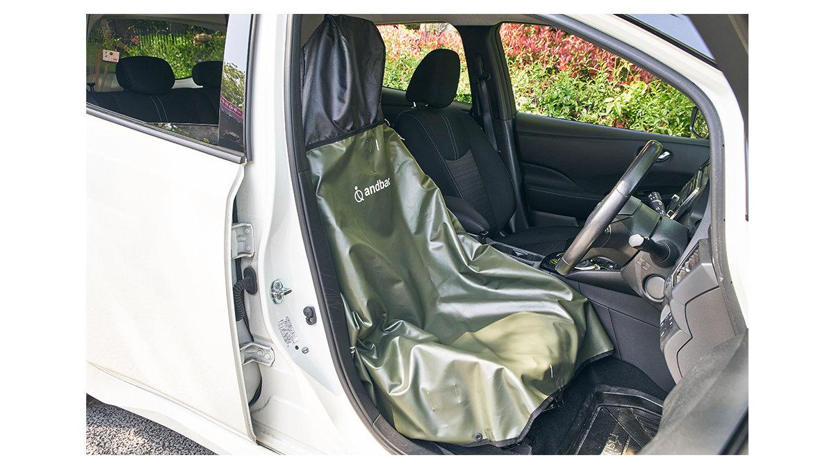 【完全防水】アウトドア後の「困った」を解決!バッグなのに車のシートカバーとしても使える