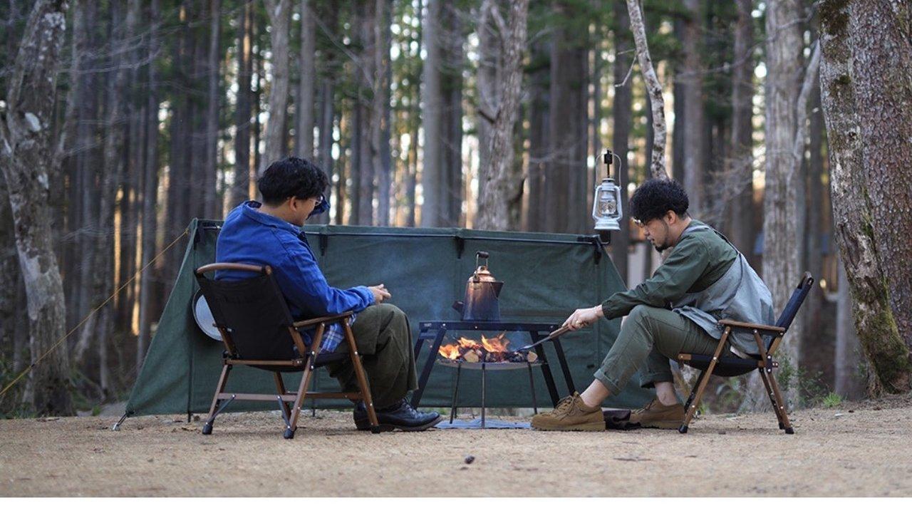 ワンランク上のキャンパーに。ワイドサイズの焚火陣幕で焚き火を楽しもう!