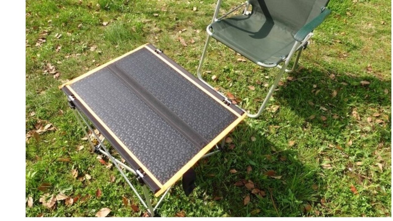 キャンプ中に高速充電!発電するソーラーテーブルがあれば災害時も安心