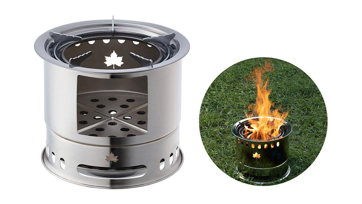 焚き火も調理もコレひとつ!「LOGOS カマドラム」が超便利