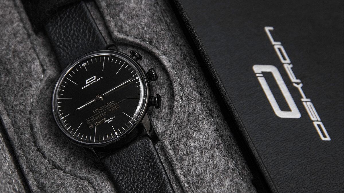 妥協しないあなたに。高級感のあるデザインとスマートウォッチの機能性を持ったアプリ連動型腕時計