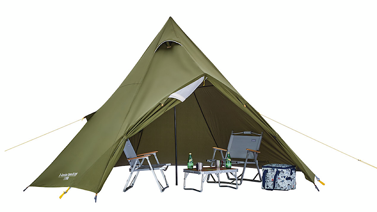 【MADUROセレクション】9月はキャンプ!風通しの良いシェードにもなる、コールマン「エクスカーションティピーⅡ/325」