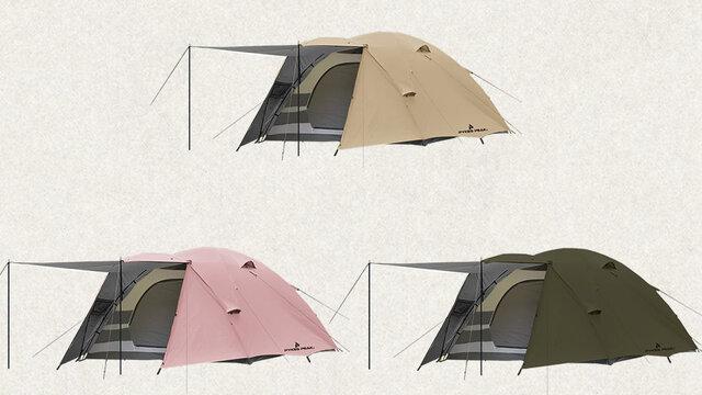 テントで広々プライベート空間!高さ170cmの大型テントPYKES PEAK「PARTY DOME 4-6P」