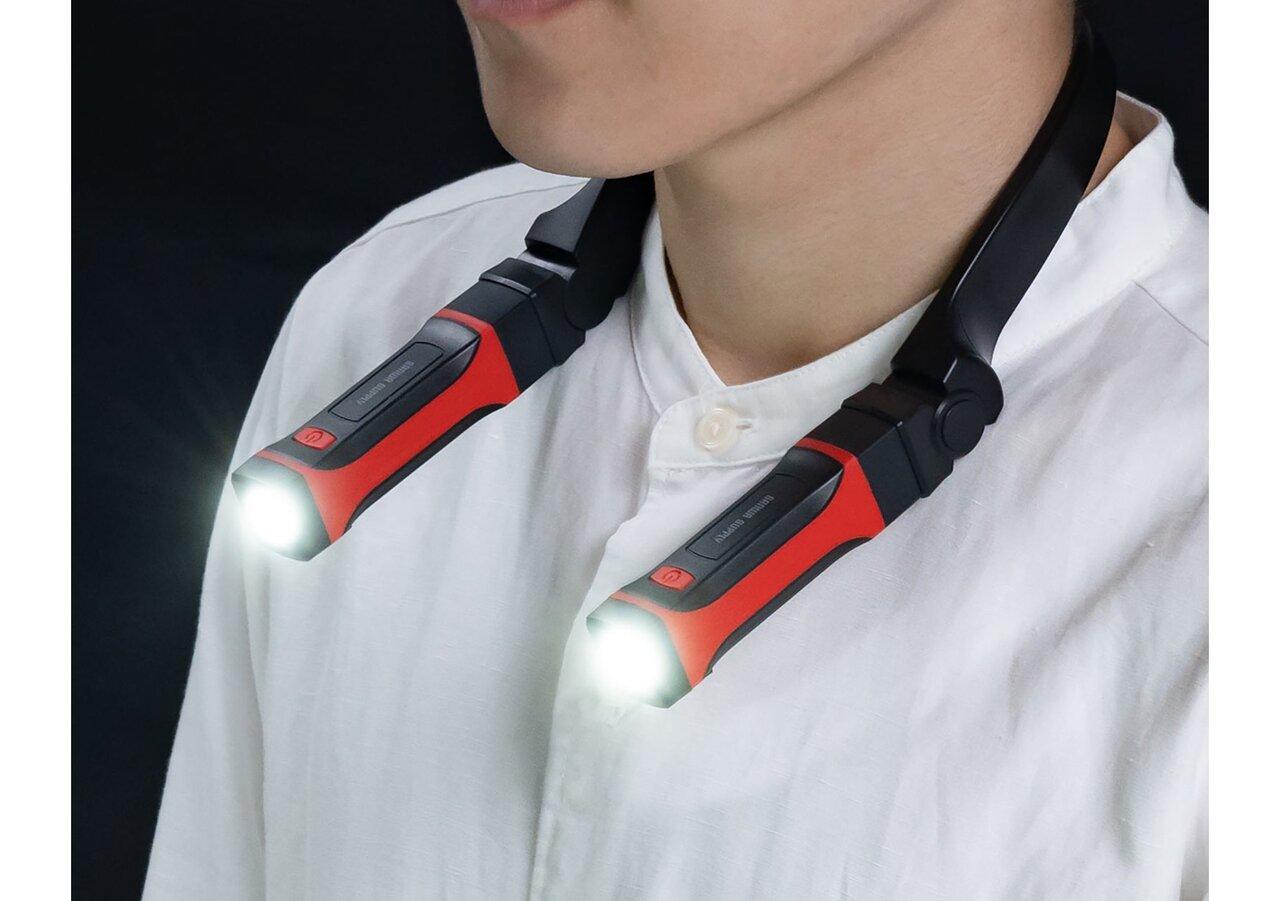 ハンズフリーで使える首掛け式LEDライトが超便利!非常用グッズにオススメ