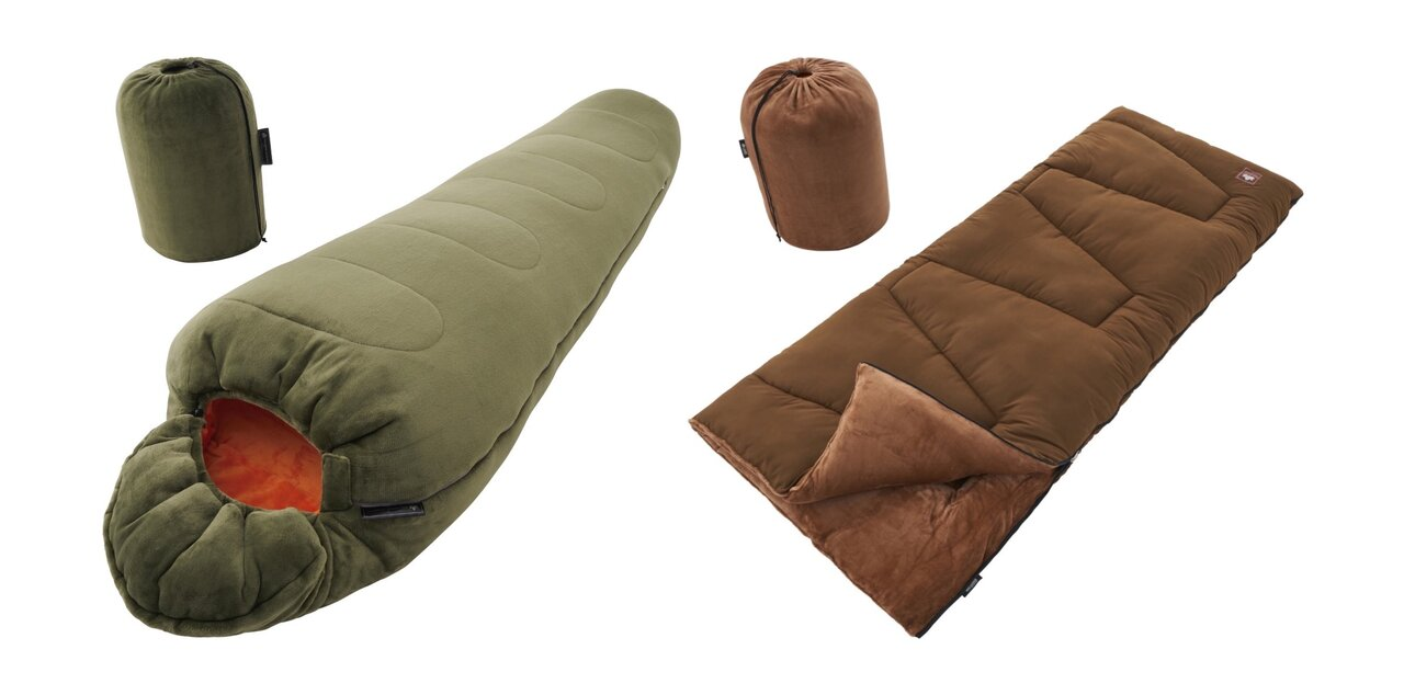 秋冬キャンプに!ロゴスより丸洗いできる心地よい肌触りの「秋冬向けシュラフ」
