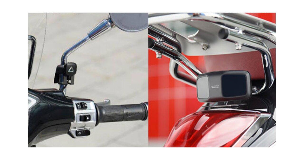 ライダーの安全をサポート!左右後方の車両を検知し注意を喚起する「バイク用BSM」
