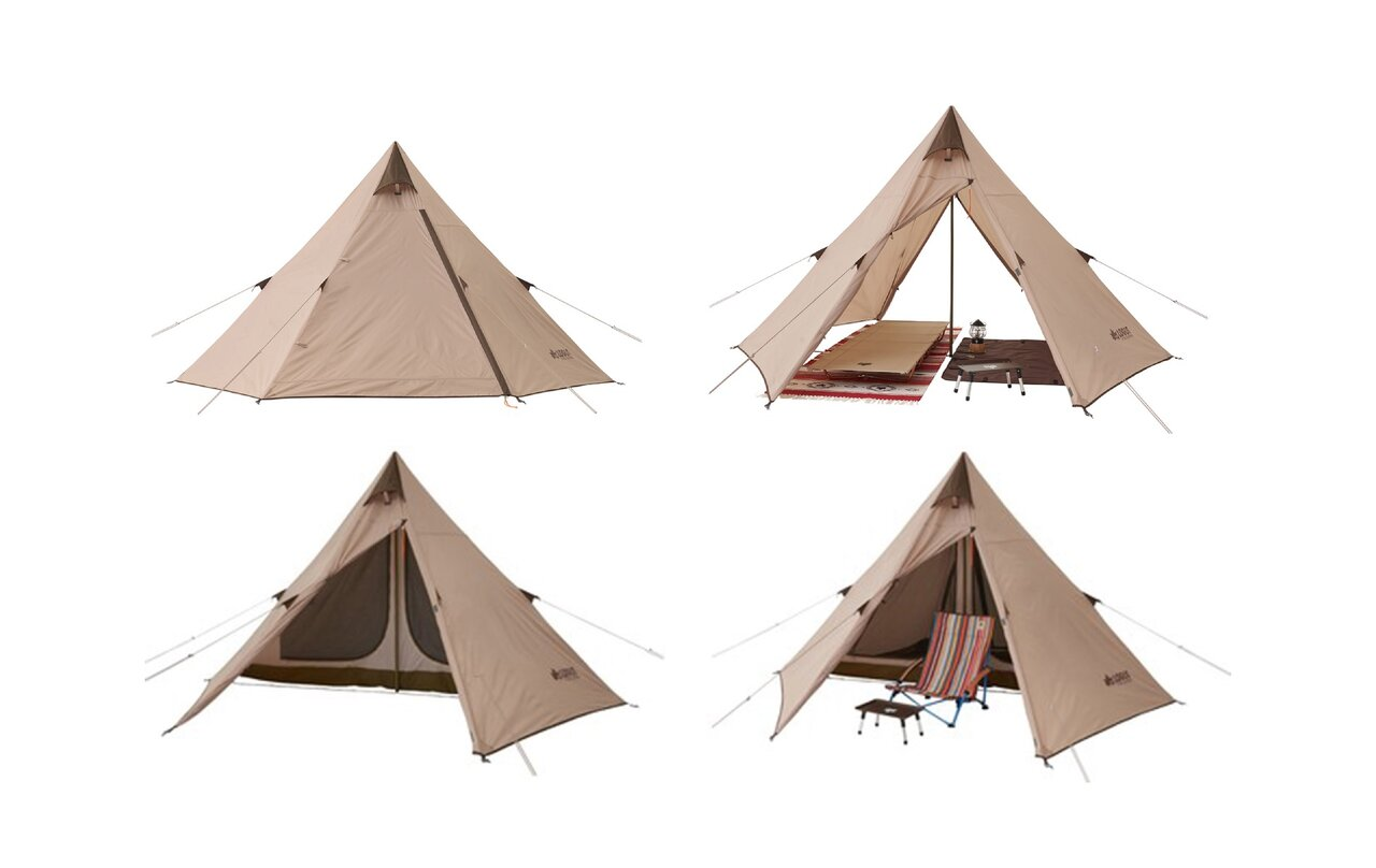 寝室とリビングスペースを確保!ロゴスの組立て簡単なワンポールテント