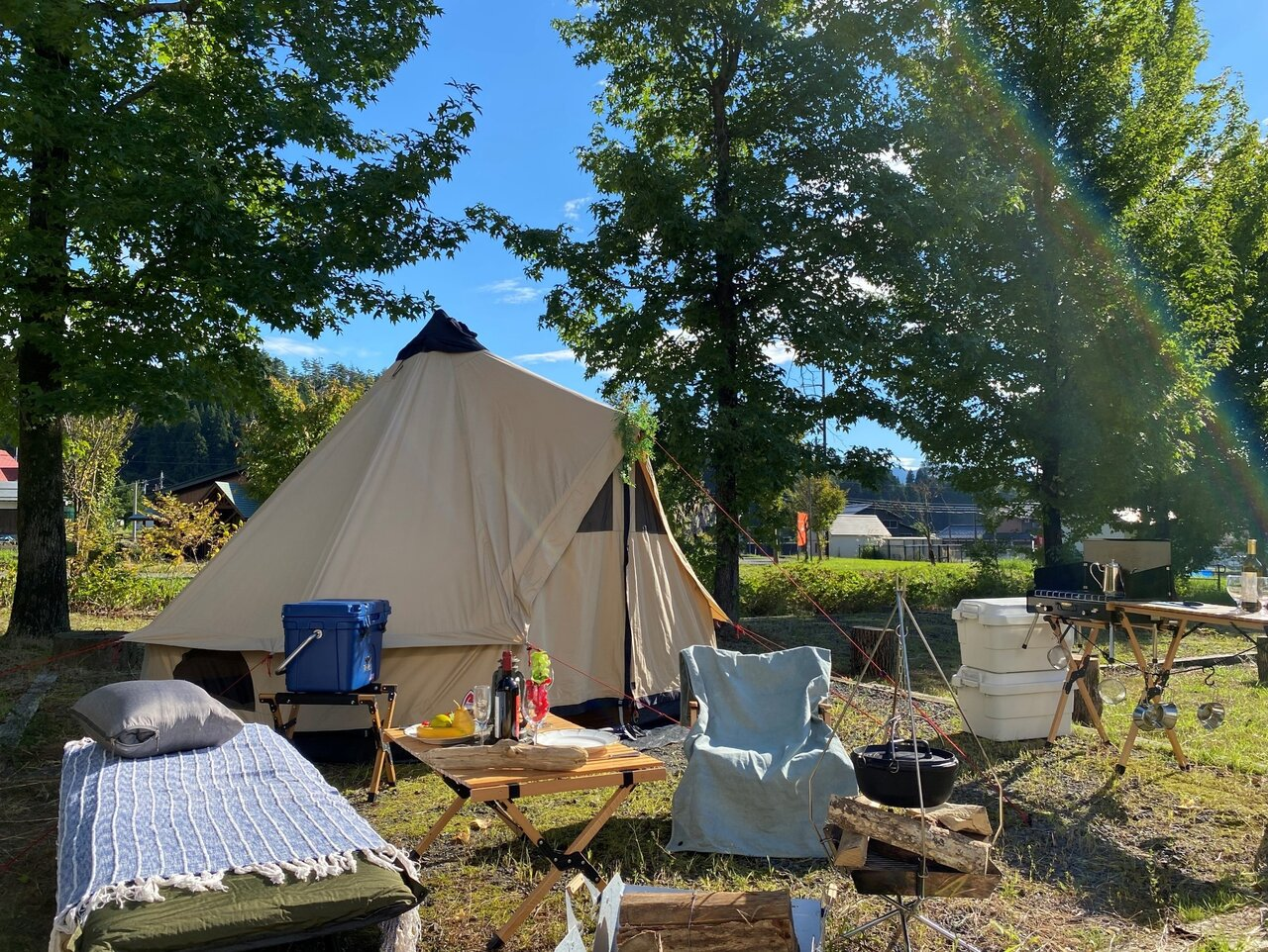 1日2組の限定パック!深まる秋に楽しみたい「キャンプ&スパプラン」
