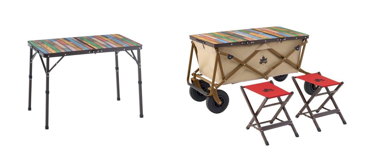 丸洗い可能!コンパクトに収納できるロゴスの「Old Wooden 丸洗いテーブル」シリーズ