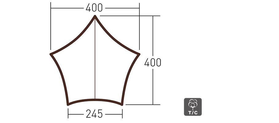 システムタープ ペンタ4×4 T/C