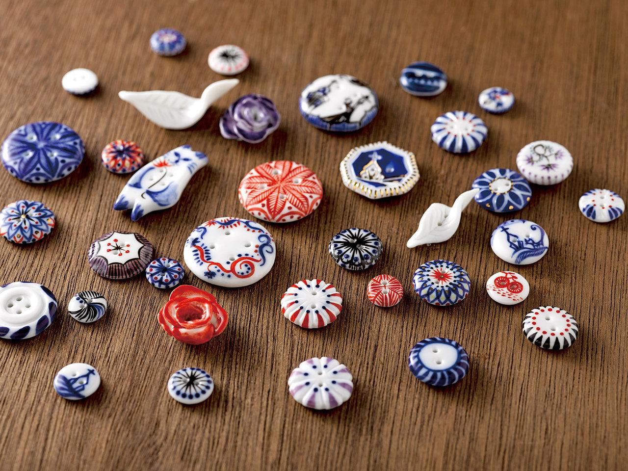 天草陶石の磁器ボタン「天草ボタン」