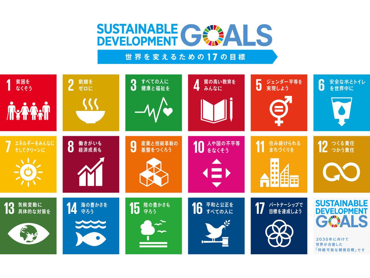 2030年に向けて世界が合意した「持続可能な開発目標」。17の目標を紹介します!