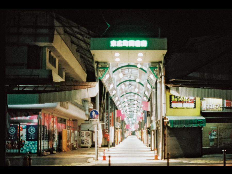 夜明け前の街。愛知県瀬戸市